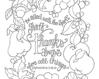 340x270 Autumn Coloring Page Etsy