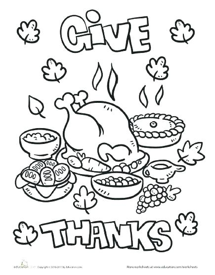 435x556 Give Thanks Coloring Page