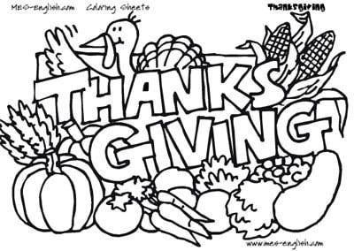 400x284 Image Detail For Mes English Thanksgiving Coloring Pages !my