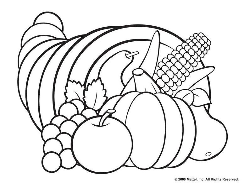 776x600 Thanksgiving Coloring Pages