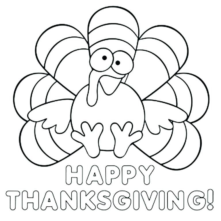 768x770 Turkey Coloring Pages Preschoolers Turkey Coloring Pages