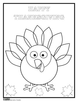 270x350 Thanksgiving Coloring Page {freebie}