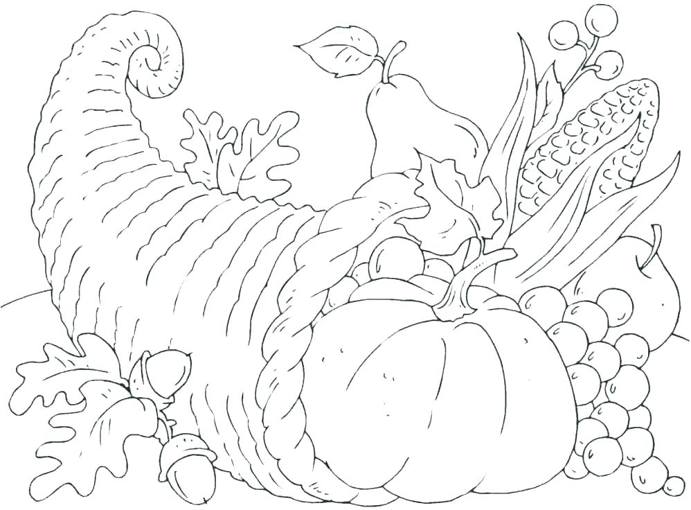 998x736 Thanksgiving Coloring Pages For Kindergarten