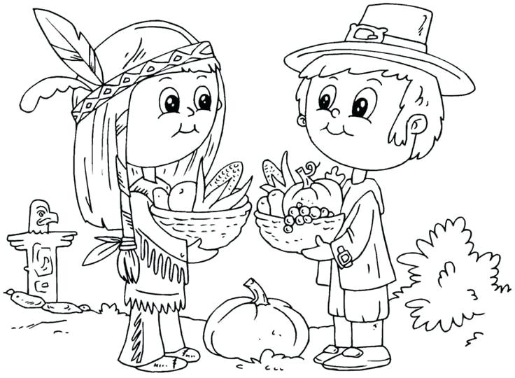 736x540 First Thanksgiving Coloring Pages Thanksgiving Pilgrim Coloring