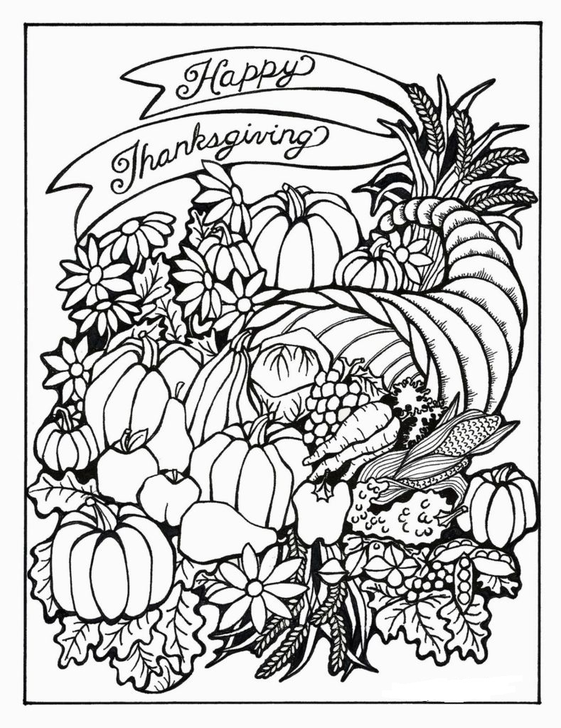 789x1024 Thanksgiving Coloring Pages For Adults To Download And Print For Free