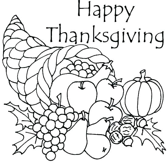 550x550 Thanksgiving Coloring Pages Online Free Printable
