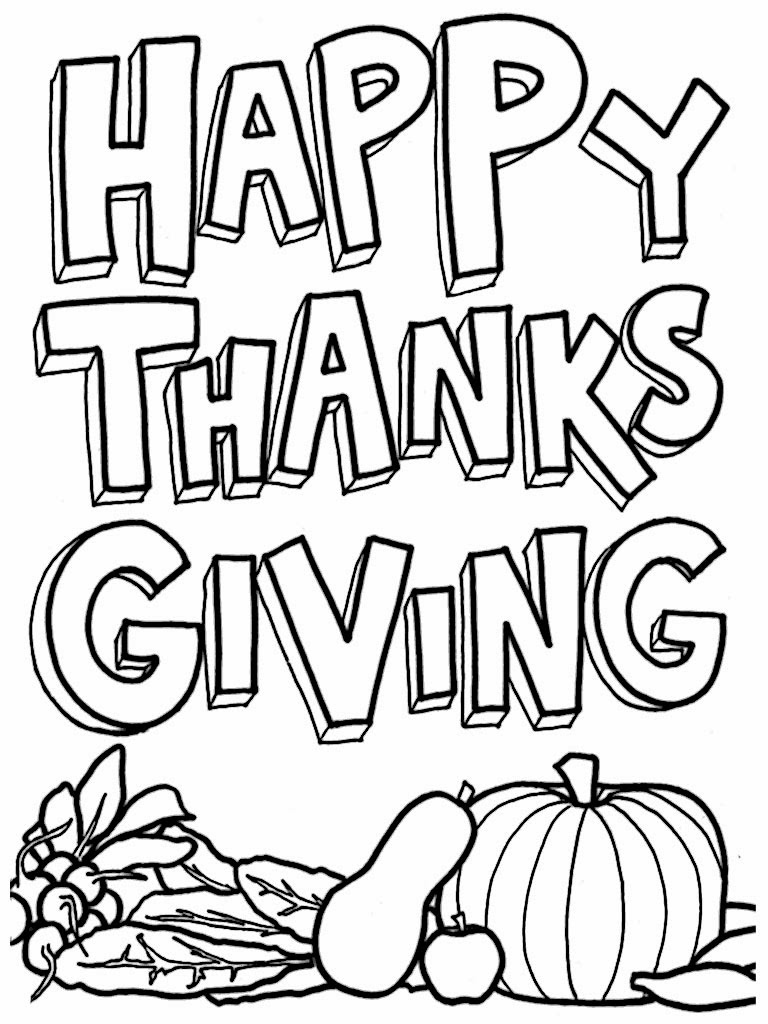 768x1024 Free Printable Thanksgiving Coloring Pages