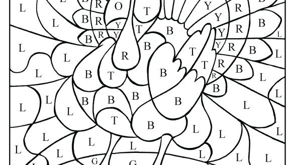 585x329 Free Thanksgiving Coloring Pages Interesting Turkey Color