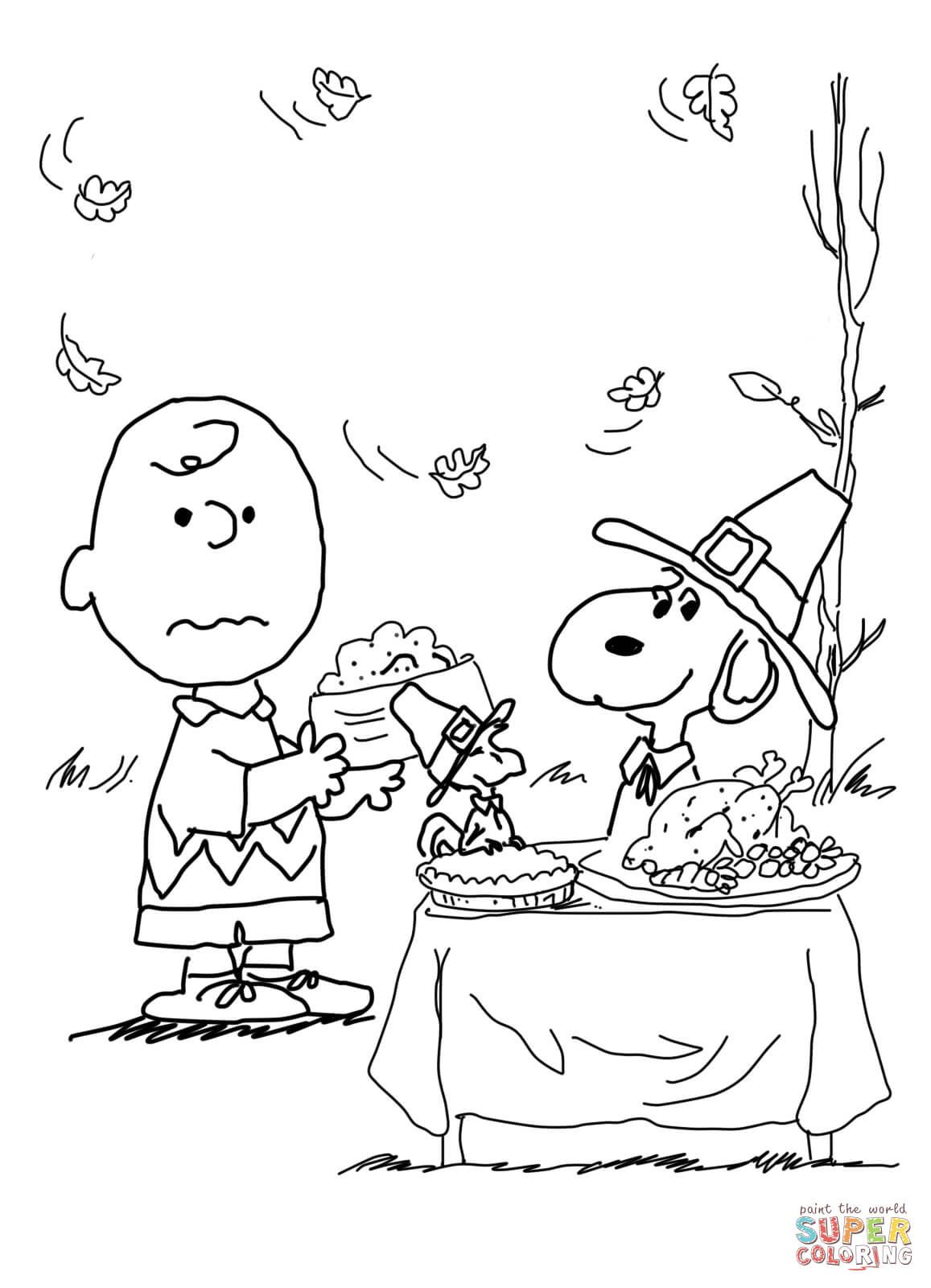 1157x1600 Charlie Brown Thanksgiving Coloring Page From Peanuts Category