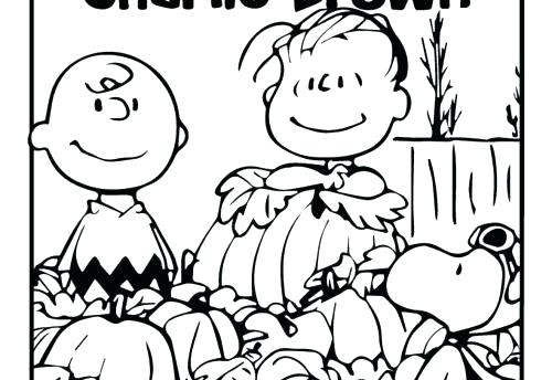 500x344 Coloring Pages Of Christmas Charlie Brown Thanksgiving Coloring