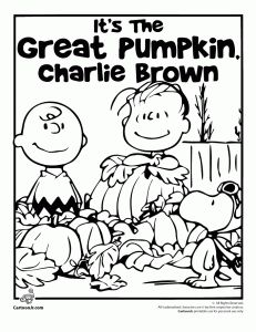231x300 Happy Charlie Brown And Pumpkins Coloring Pages For Kids