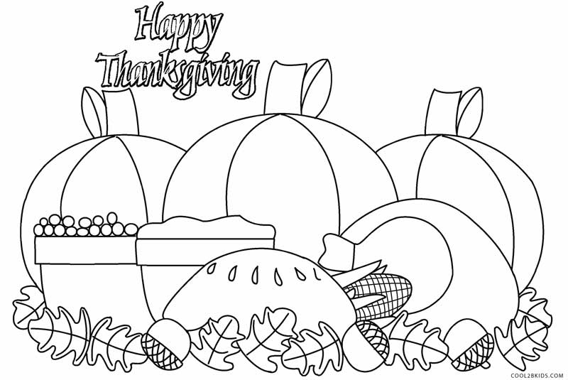 800x535 Printable Thanksgiving Coloring Pages For Kids