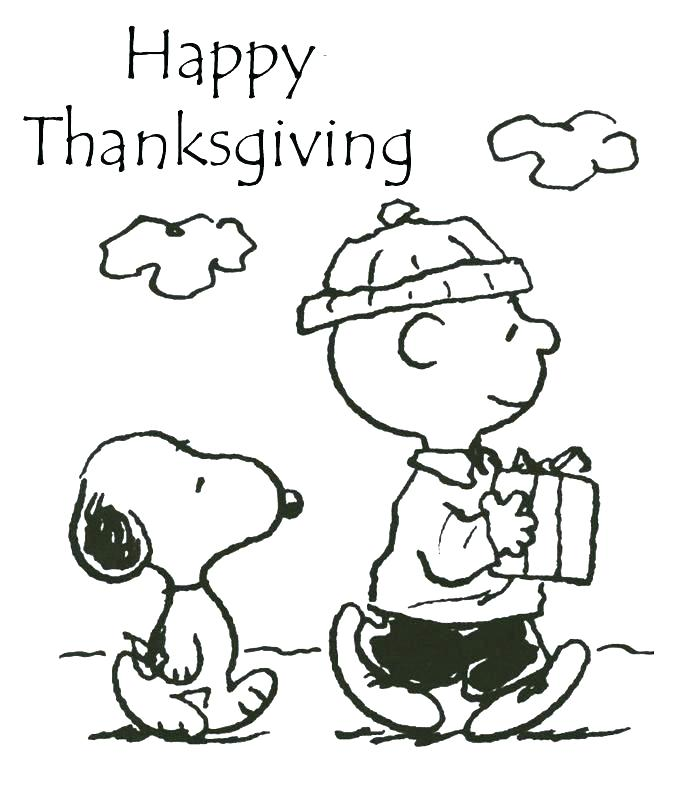700x802 Snoopy Pictures To Color This Is Charlie Brown Thanksgiving