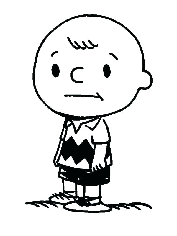 600x800 Charlie Brown Coloring Page
