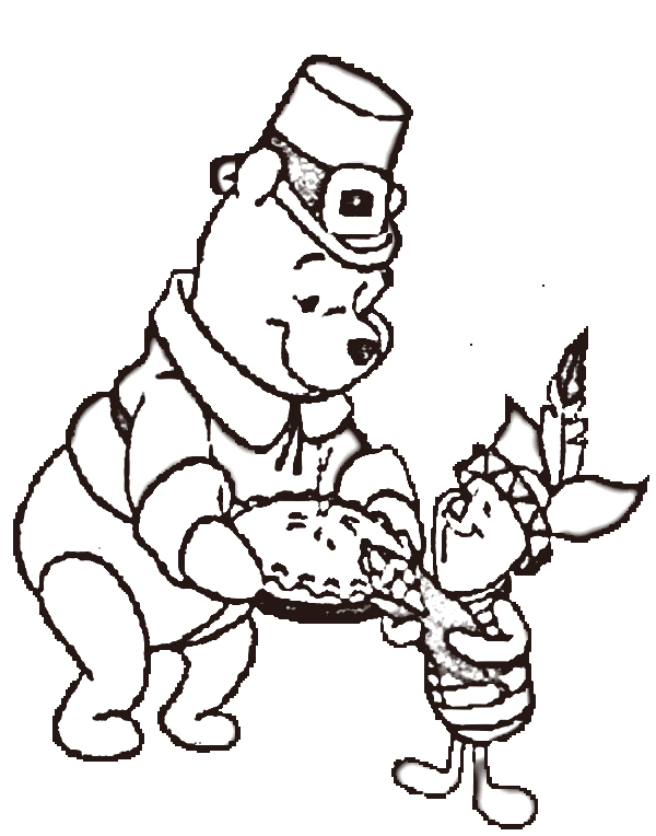 600x764 Disney Thanksgiving Coloring Pages Free Cartoons