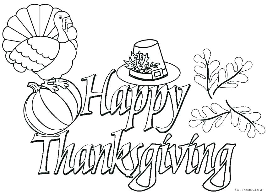 850x618 Kids Thanksgiving Coloring Pages Happy Thanksgiving Turkey