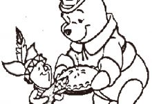 220x150 Thanksgiving Coloring Pages Disney Characters