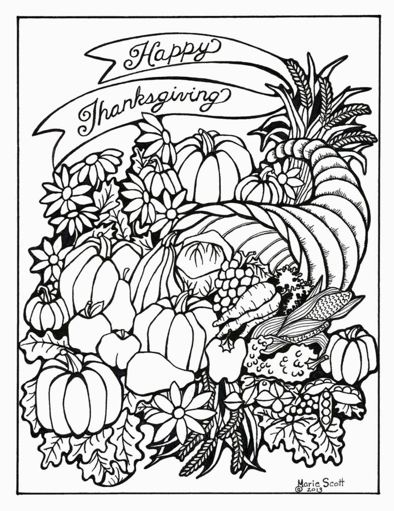 789x1024 Thanksgiving Coloring Pages