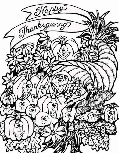 499x640 Best Thanksgiving Coloring Pages Images