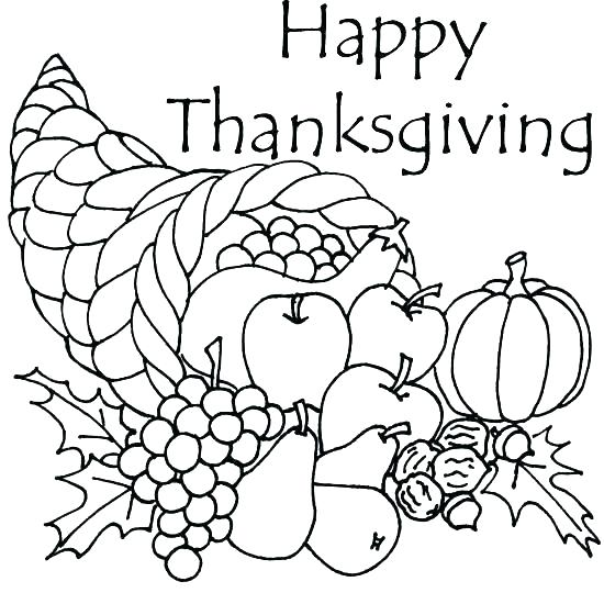 550x550 Happy Thanksgiving Coloring Pages