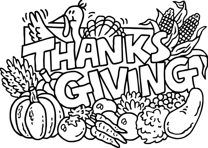 Thanksgiving Coloring Pages For Kids