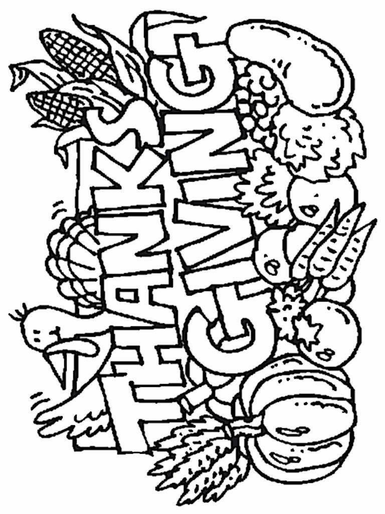 Collection Coloring Pages Kindergarten Thanksgiving Pictures