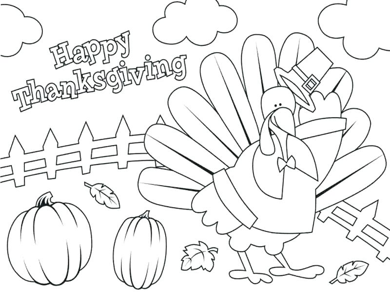 800x598 Thanksgiving Coloring Pages Kindergarten Happy Thanksgiving