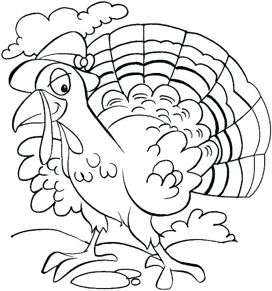 556x594 Turkey Coloring Pages For Kids Free Printable Thanksgiving