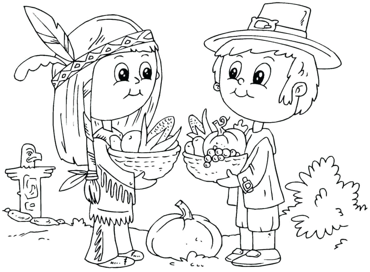 1186x872 Free Thanksgiving Coloring Pages For Sunday School Printable