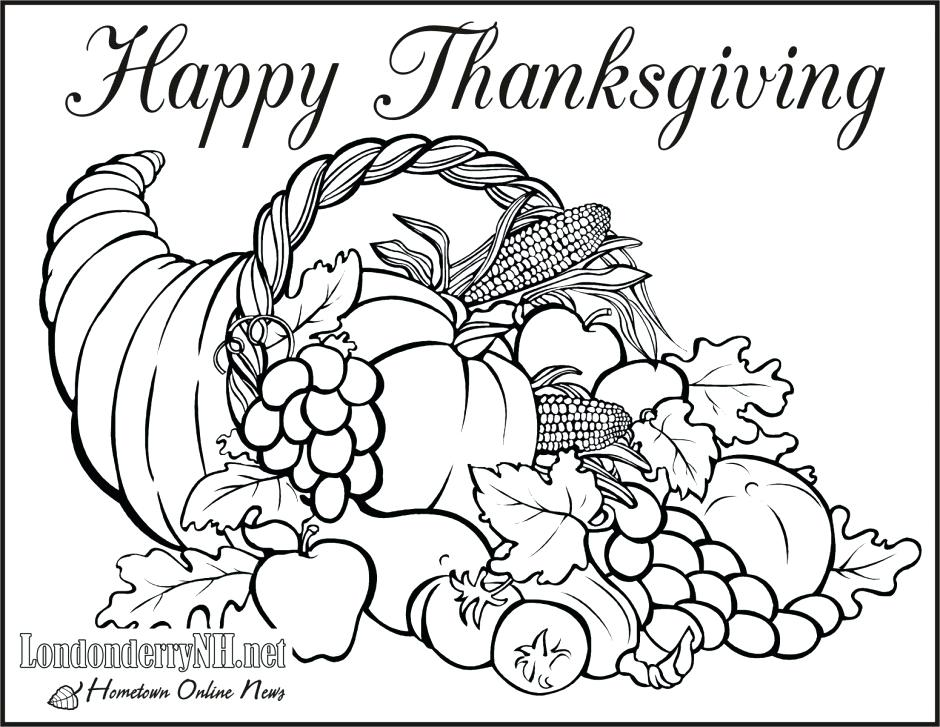 940x727 Free Download Thanksgiving Coloring Pages Preschool In Funny Print
