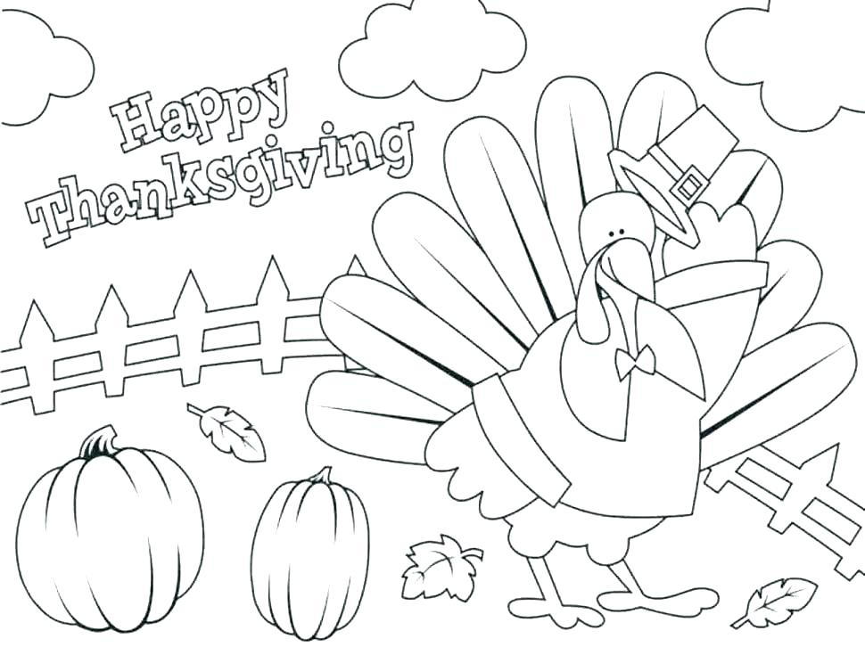 970x726 Turkey Coloring Pages For Preschoolers Large Size Of Printable