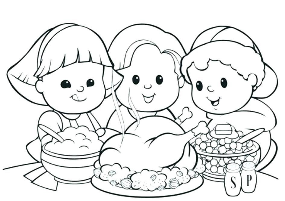 945x668 Thanksgiving Coloring Pages For Kindergarten Turkey Coloring Pages