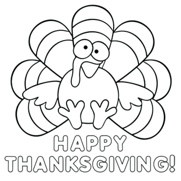 580x581 Thanksgiving Turkey Coloring Pages With Turkey Thanksgiving