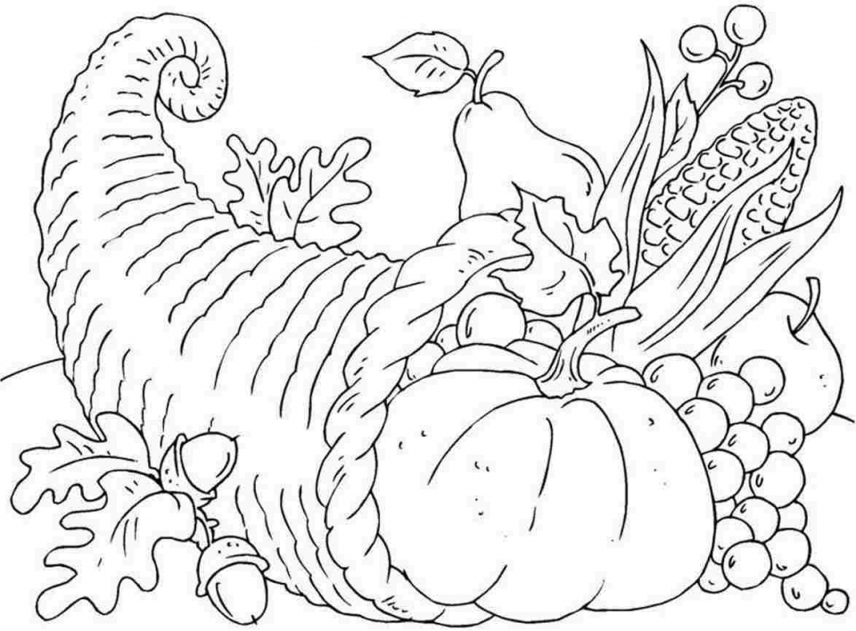 960x708 Get This Thanksgiving Coloring Pages Free To Print !