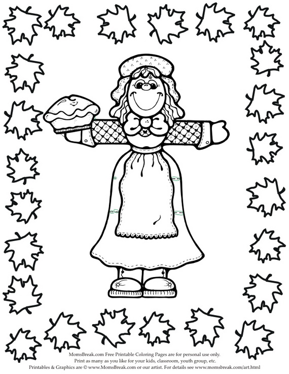 570x737 Thanksgiving Coloring Pages For Kids
