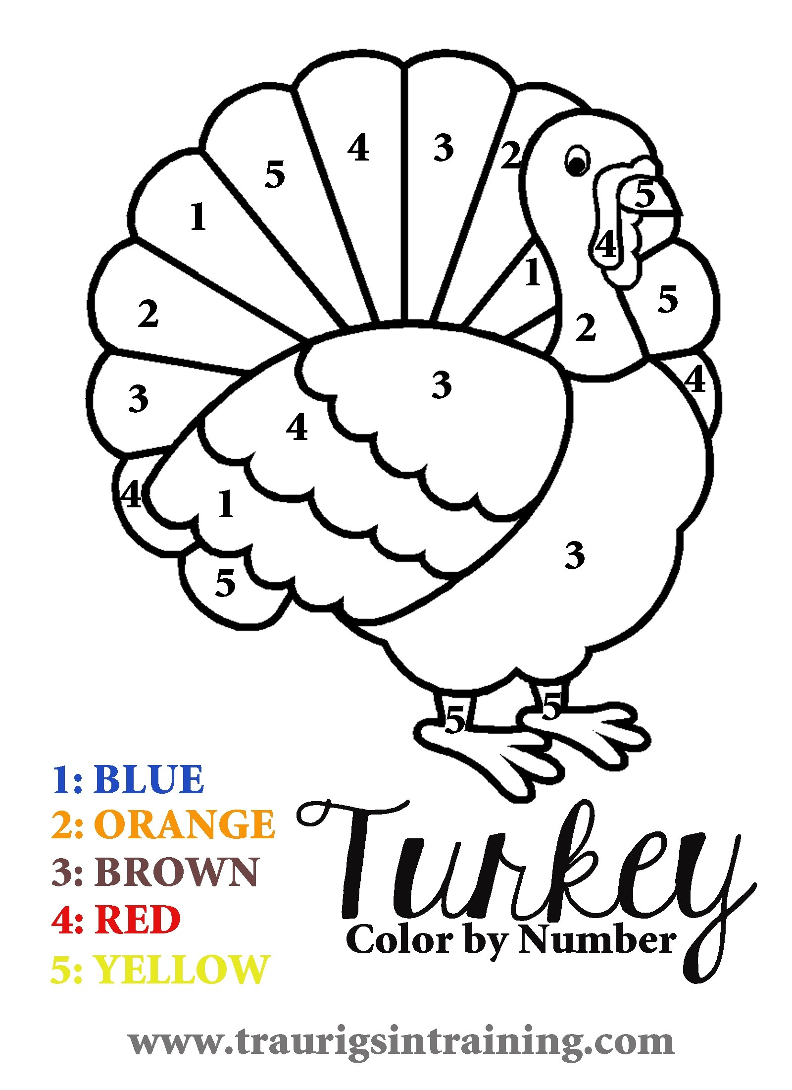 1600x2200 Trend Thanksgiving Coloring Pages Pdf Brilliant Turkey With Color