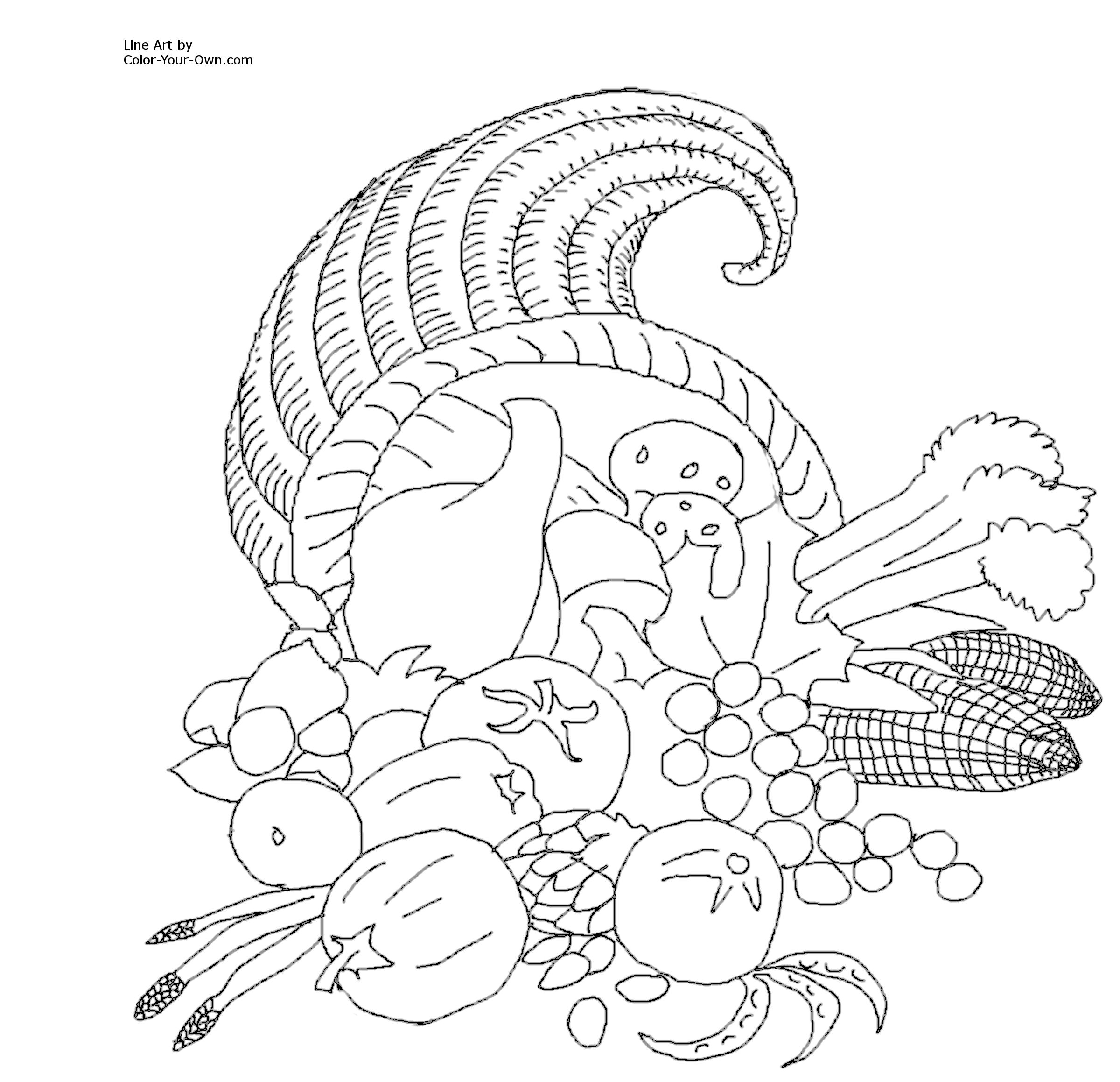 Thanksgiving Coloring Pages To Print At Getdrawings Com Free For