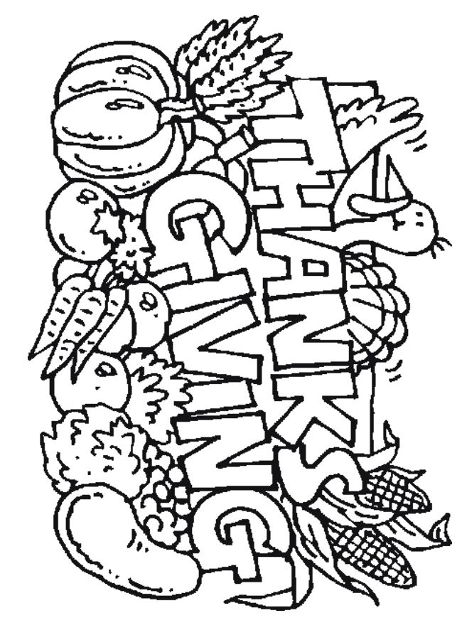 Thanksgiving Coloring Pages To Print For Free