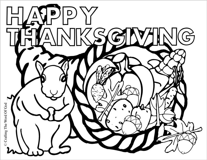 800x618 Thanksgiving Cornucopia Coloring Page Crafting The Word Of God