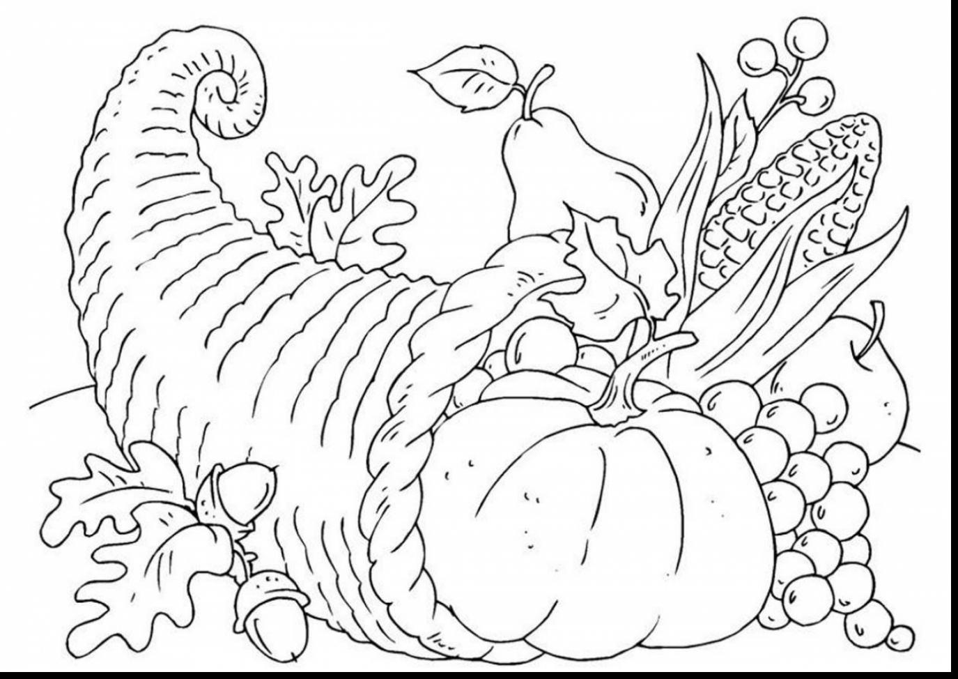 Thanksgiving Cornucopia Coloring Pages At Getdrawings Com Free For