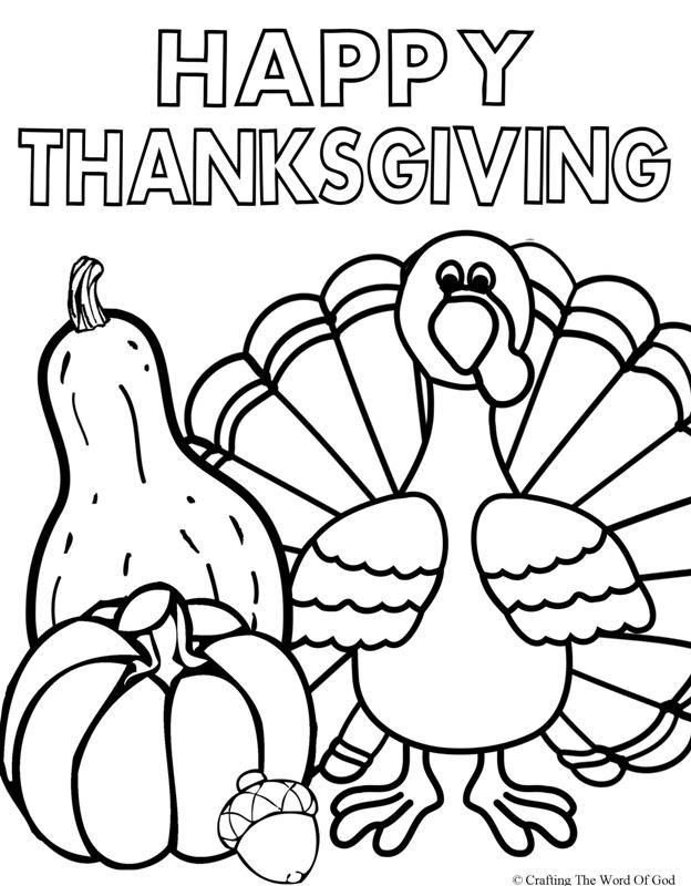 624x800 Happy Thanksgiving Turkey Coloring Pages
