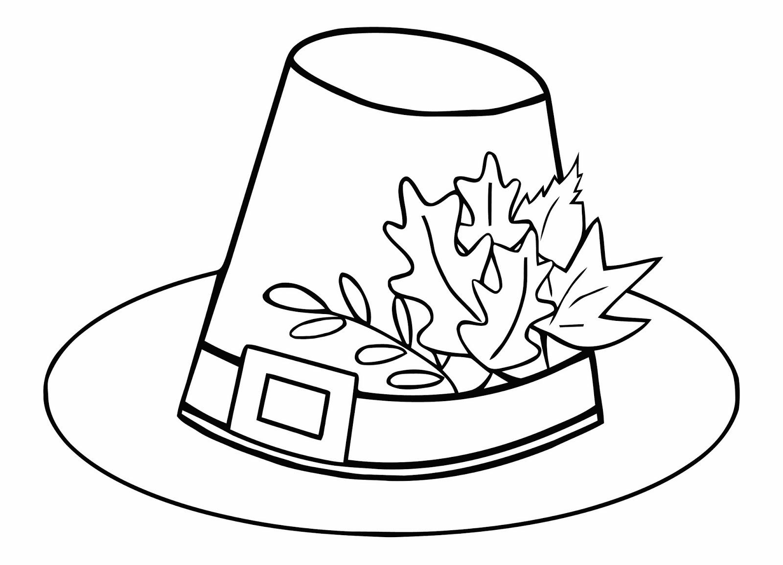 1600x1155 Pligrit Thanksgiving Hat Free Coloring Page Holidays, Kids