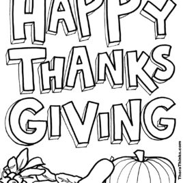 268x268 Coloring Page For Thanksgiving Archives