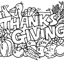268x268 Coloring Pages For Thanksgiving Printable Archives