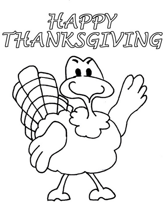 570x758 Free Coloring Sheets For Thanksgiving