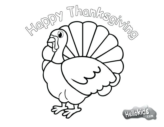 620x480 Thanksgiving Day Coloring Pages Thanksgiving Day Turkey Coloring
