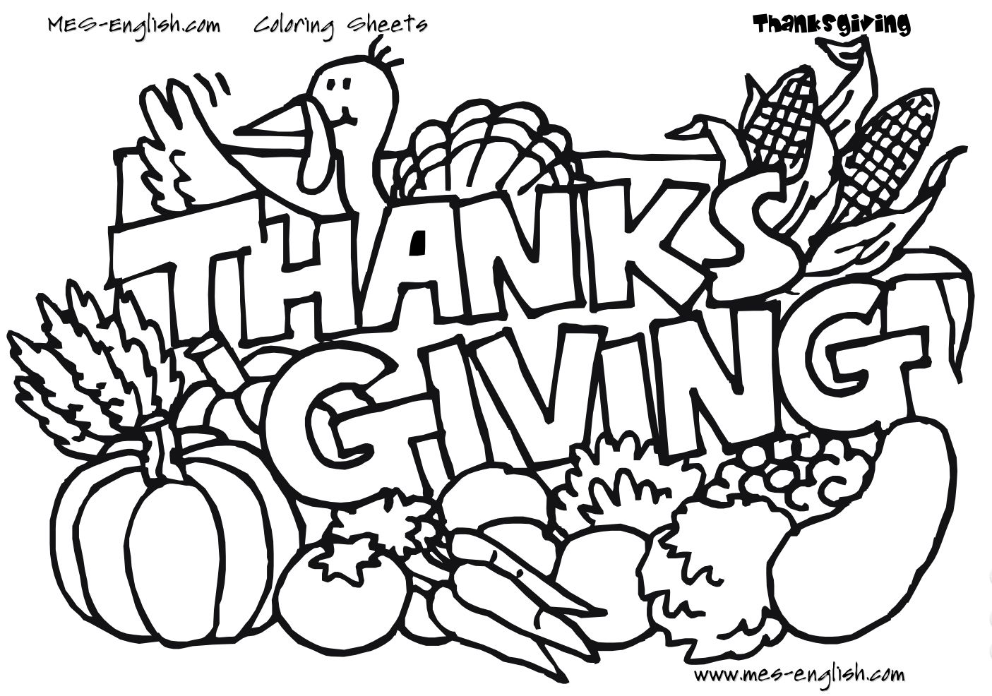 1405x986 Valuable Thanksgiving Pictures To Color And Pr