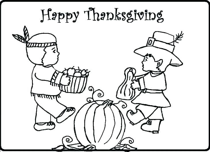 730x530 Thanksgiving Day Coloring Pages Free