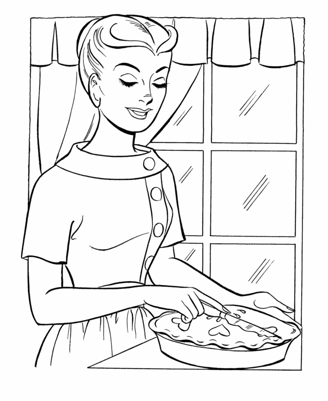 670x820 Mom Coloring Pages Best Of Thanksgiving Dinner Coloring Page