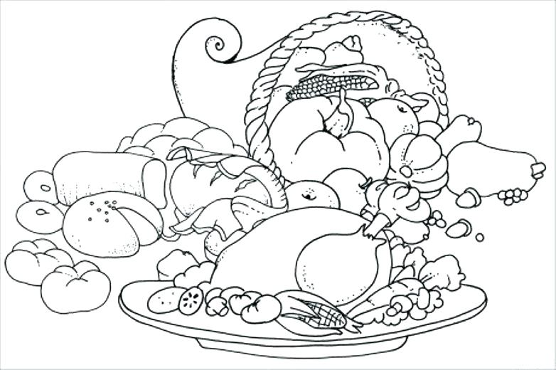 782x520 Thanksgiving Feast Coloring Pages Coloring Pages For Kids